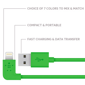 MIXIT↑&trade 90° Lightning™ to USB Cable